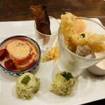 湘南の魚とワインの店 ヒラツカ - 前菜の盛り合わせ