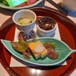 青蓮寺レークホテル - 料理写真:先付5種