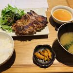 蒼 - 鶏モモ肉の炭火焼き定食