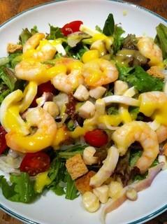 ブルックリンパーラー - シーフードのサラダ