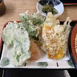 清水そば そば峠 - 天ぷら峠の蕎麦セット