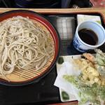 清水そば そば峠 - ざる蕎麦大盛りと天ぷら