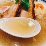 Meigenso - 煮干し塩そば スープリフト