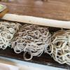 泰庵 - 料理写真:左からから粗挽き二八、田舎蕎麦、二八のなにか