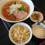 Wang - 正油ラーメン+小炒飯