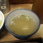 吾妻家 - 鶏スープ 4杯も飲んだ
