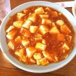中国料理聚仙 - 麻婆丼と小ラーメン定食  昨日に引き続き中華なランチです。 麻婆豆腐が食べたかったので麻婆丼にしました。 これに小ラーメンが着いて680円と激安です。  辛めに注文して大満足♫