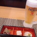 江戸前 びっくり寿司 - ビール♫