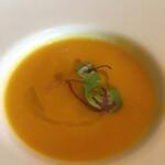 イカリヤ食堂 - 鴨の出汁と香味野菜のポタージュ