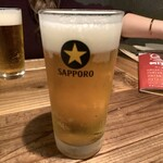朝日食堂 - 生ビール