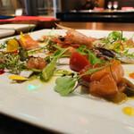 149039932 - ③ 前菜1:海鮮(車海老、蛸、鰯、鮭、剣先)マリネ盛り