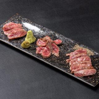 塊で仕入れる栃木県産黒毛和牛を使用した自慢の『和牛料理』