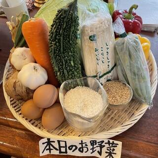 毎日新鮮な野菜を使用しています!