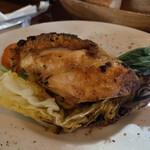 仙人掌 - 鶏胸肉のフォアグラ詰めロースト