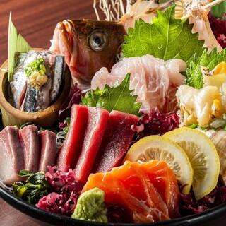 目利きが選ぶ旬の鮮魚をご堪能