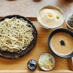那須茶寮 - ごま黒麹味噌つけそばとミニとろろごはん