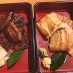 別館 すが井 - 白焼き(980円税別)と蒲焼き(980円税別)