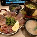 149075479 - 特盛漬けメジマグロ丼セット968円
