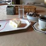 チェンバロ - 洋梨のチーズケーキとコーヒーセット