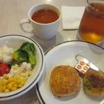 ステーキガスト - サラダ&スープ&フォカッチャ