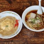天山 - ラーメン+天津飯