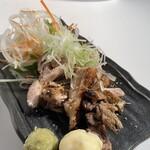 串カツ イチフク - 朝引き軍鶏もも炙り