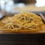 二丸屋武蔵亭 - 天丼定食の手打ち蕎麦、やや量が寂しい(笑)
