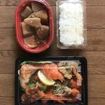 地球食堂 - 料理写真:幕の内弁当ブリ大根付き