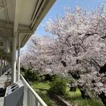 うを治 - 武庫之荘駅のホームから見える桜並木が綺麗です!2021.3