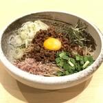 蕎麦とお酒 そばいち - 台湾まぜそば(追い飯付) ¥800