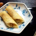 蕎澤 - おからの春巻き