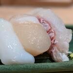"""寿司 魚がし日本一 - 此れは何かのセットもの。あ。"""" 白身セット """" だった。"""