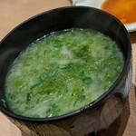 寿司 魚がし日本一 - アオサ椀んまーし。