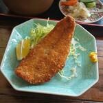 お食事処 海雅 - 鯵フライは後からの配膳でした♪