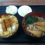 長寿庵 - カツ丼セット