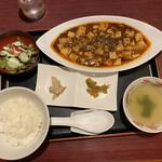 中華家かいか - 料理写真:四川麻婆豆腐定食 850円です