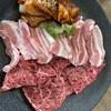 トミスミート - 料理写真:Bランチ 牛モモ、豚バラ、鶏肉 1300円