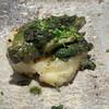 鉄板焼き 高見 - 料理写真:これがアワビの肝ソース和え、ハッシュドポテトと合います!