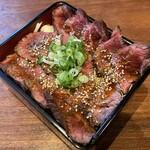 梅田肉料理 きゅうろく - 鉄板ハラミステーキ重(200g)