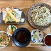茶房 庭テラス - 料理写真:蕎麦天ぷら定食