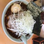地獄ラーメン 田中屋 - 地獄チャーシュー麺 極上級2 大盛り 1100円 海苔、味玉 100円トッピング