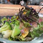 149229234 - 25種類の野菜とハーブのサラダ