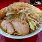 自家製麺 酉 - 鶏増しラーメン(麺量250g) トッピングは味染みたまご。 コールはニンニクマシ、ちょいアブラ