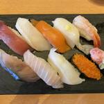 海天丸 - 料理写真:平日ワンコインランチ(上から)