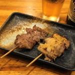 ささもと - 2012.8 豚ハラミ(210円)、ミョウガ巻き(210円)