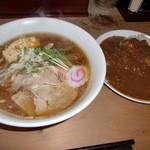 ○修 - ラーメン&カレーライスセット700円