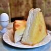 珈琲 王城 - 料理写真:【モーニング トースト(厚焼)セット@税込700円】バタートースト
