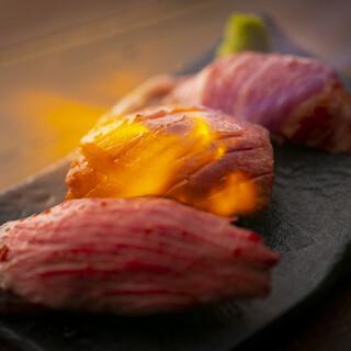 【大和西大寺店限定】炙り肉寿司は219円~