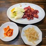 炭火焼肉ごんちゃん - 令和3年4月 ランチタイム ハラミセット肉大盛り(100g) 900円