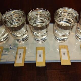 東京産の日本酒飲み比べ!